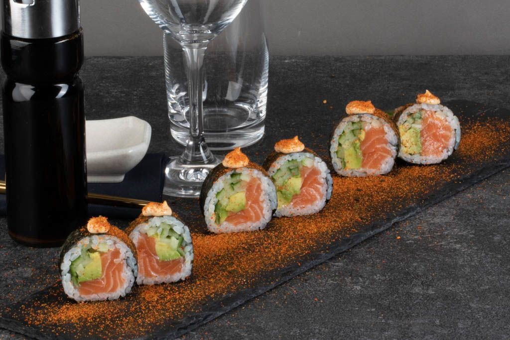 Billede af Salmon futomaki Spicy