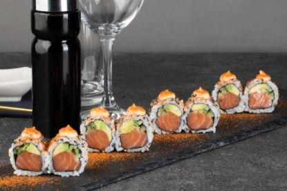 Picture of Salmon roll uramaki Spicy